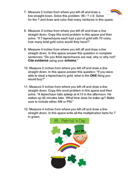 3.MD.4 St. Patty's Day Measurement Challenge