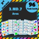 3.MD.7 Task Cards ⭐ Area: Multiplication, Addition & Tiling