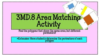 3.MD.8 Area of Polygon Task Cards {Differentiated Answer Sheets}