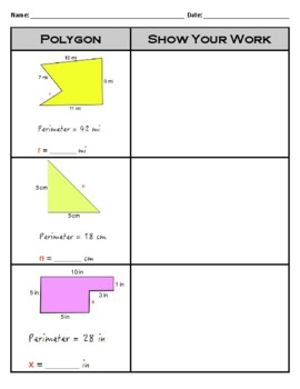 3.MD.8 - Finding Missing Side Length Given Perimeter