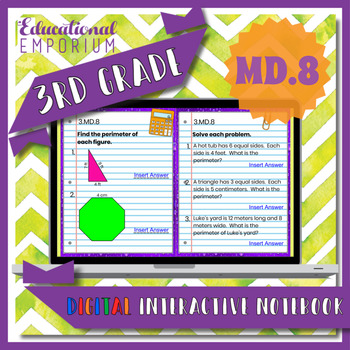 3.MD.8 Interactive Notebook: Perimeter of Polygons for Google Classroom™