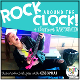 3.MD.A.1 - Rock Around the Clock! A Room Transformation for Telling Time