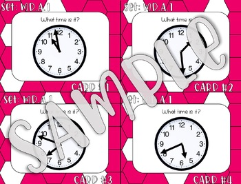 3.MD.A.1 Tell and Write Time to the Nearest Minute Task Cards