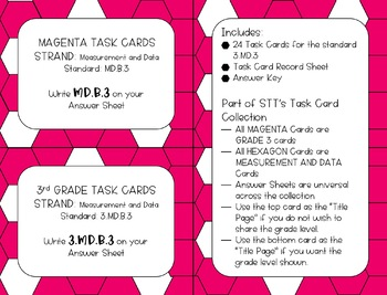"""3.MD.B.3 Graph """"More or Less"""" Problems Task Cards"""