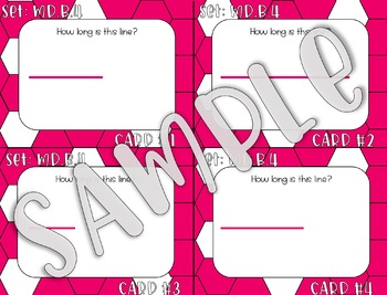 3.MD.B.4 Measurement to 1/4 of an Inch Task Cards