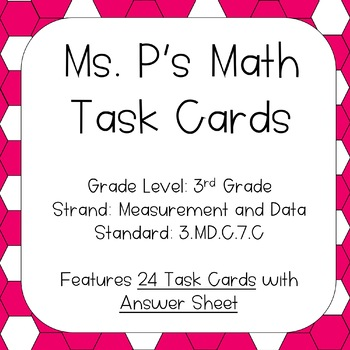 3.MD.C.7.C Tile Area of Rectangles Task Cards