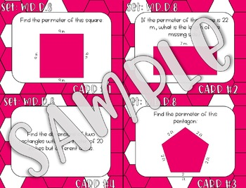 3.MD.D.8 Perimeter of Polygons Task Cards
