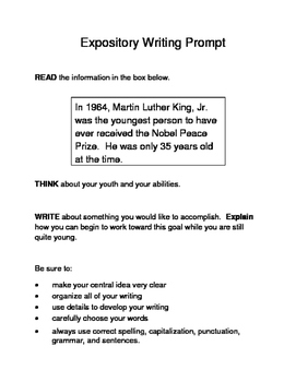 3 MLK.-Themed Expository Writing Prompts (STAAR/TEKS) Set A 3rd, 4th, 5th Grades