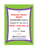 3 MLK.-Themed Expository Writing Prompts (STAAR/TEKS) Set