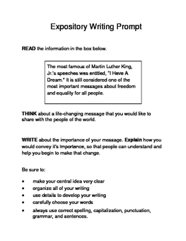 Expository writing activities 5th grade