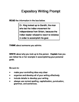 3 MLK.-Themed Expository Writing Prompts (STAAR/TEKS) Set B 6th 7th Grades