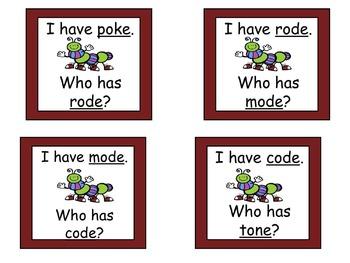 3 Magic E I Have, Who Has Games ( A, I, O )