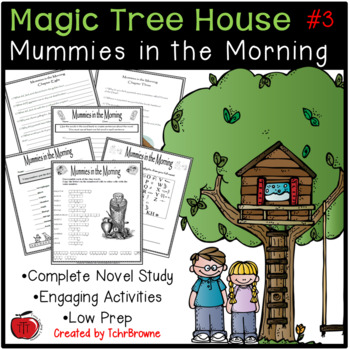 3 Magic Tree House Mummies In The Morning Novel Study By