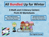 Winter Centers and Worksheets BUNDLE