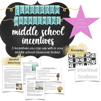 3 Middle School Incentives Printables and Instructions
