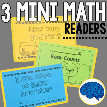 3 Mini Emergent Math Readers Numbers 1 to 10