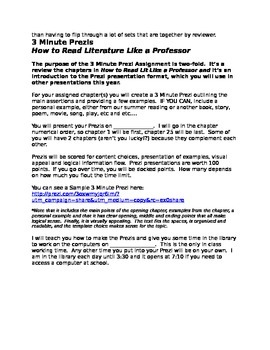 3 Minute Prezi Project- How to Read Literature Like a Professor