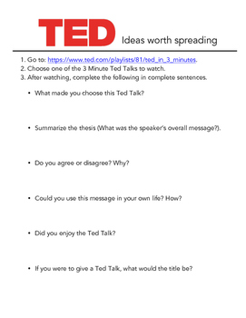 TED Talks Mini-Assignment