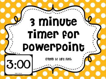 3 minute timer for powerpoint by creative teacher mama tpt