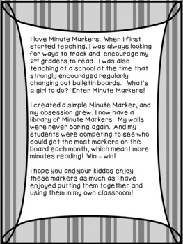 3 Months of Minute Markers - Track Reading While Making Your Room Shine!