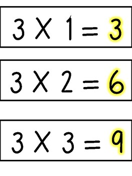 3 Multiples Times Table