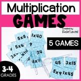3 Multiplication Games - Spoons, Headbands, & Dice Activity