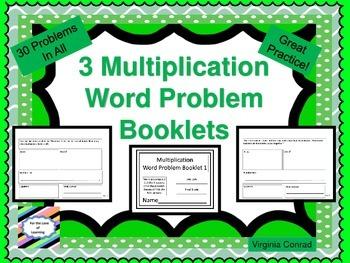 Multiplication Word Problem Booklets