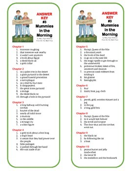 #3 Mummies in the Morning Comprehension Book Marks (Magic Tree House Series)