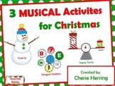 3 Musical SMARTBoard Activites for Christmas