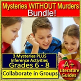 3 Mystery Workshops with Inferences 6th 7th & 8th Grade Test Prep Mystery Unit