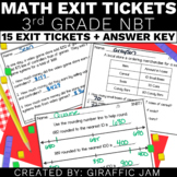 3rd Grade Math Exit Tickets for Every NBT Standard