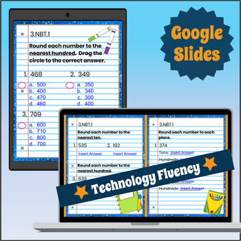 3.NBT.1 Interactive Notebook: Rounding Whole Numbers for Google Classroom™