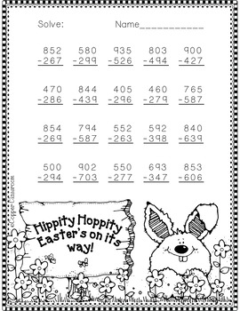 3.NBT.2 Easter Themed 3 Dig... by Copper Classroom ...