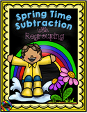 3.NBT.2 Spring Themed 3 Digit Subtraction With Regrouping