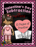 3.NBT.2 Valentine's Day Themed 3 Digit Subtraction With Re