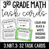 3.NBT.3 3rd Grade Math Task Cards (Multiplying by Multiples of 10)
