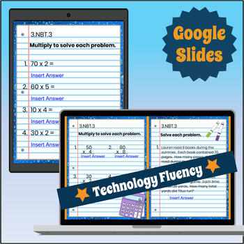 3.NBT.3 Interactive Notebook: Multiply by Multiples of 10 for Google Classroom™