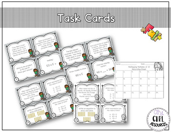 3.NBT.3 Multiplying Multiples of 10 Task Cards - Fall Edition