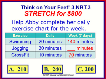 3.NBT.3 THINK ON YOUR FEET MATH! Interactive Test Prep Game— Multiples of Ten