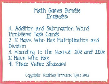 3.NBT.A.1, 3.OA.A.1, 3.NBT.A.2 Math Game BUNDLE!