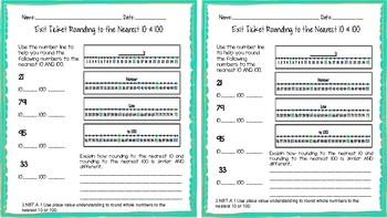 3.NBT.A.1 Place Value Exit Ticket