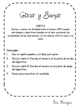 3.NBT.A.2 Girar Y Sumar