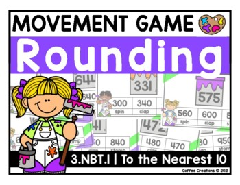 3.NBT.1 - Rounding to the Nearest 10 -  Using 3 Digit Numbers