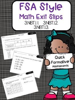 3.NBT FSA Style Math Exit Slips