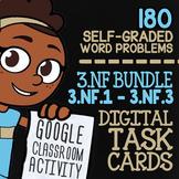 3.NF.1-3.NF.3 Self-Graded Google Classroom Fractions Activities 3rd Grade Bundle