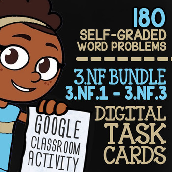 3.NF.1-3.NF.3 Self-Graded Google Classroom™ Fraction Activities 3rd Grade Bundle