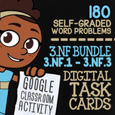 3.NF.1-3.NF.3 Self-Graded Google Classroom™ Fraction Activities 3rd Grade Bundle