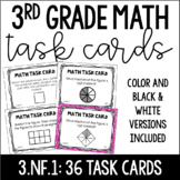 3.NF.1 3rd Grade Math Task Cards (Understanding and Identi