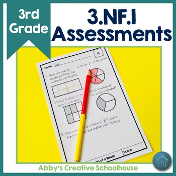 3.NF.1 Assessments Understanding Fractions with Fraction Models