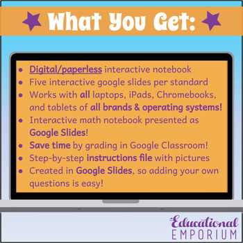3.NF.1 Interactive Notebook: Understanding Fractions for Google Classroom™